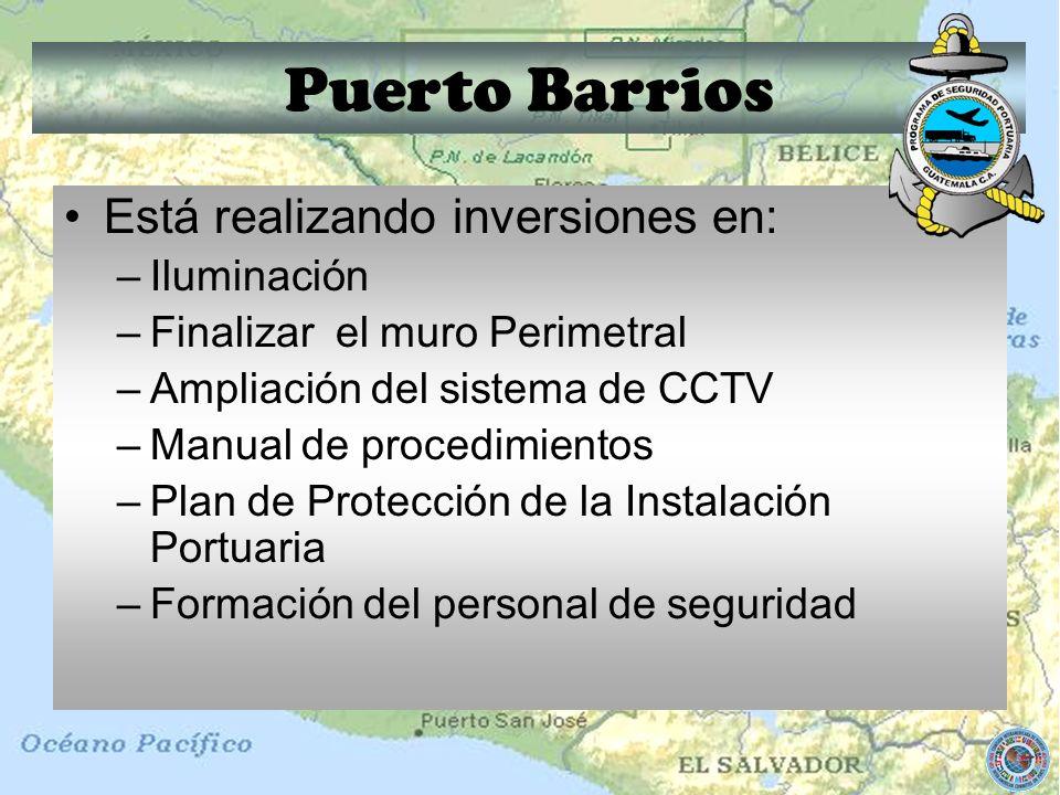 Puerto Barrios Está realizando inversiones en: Iluminación