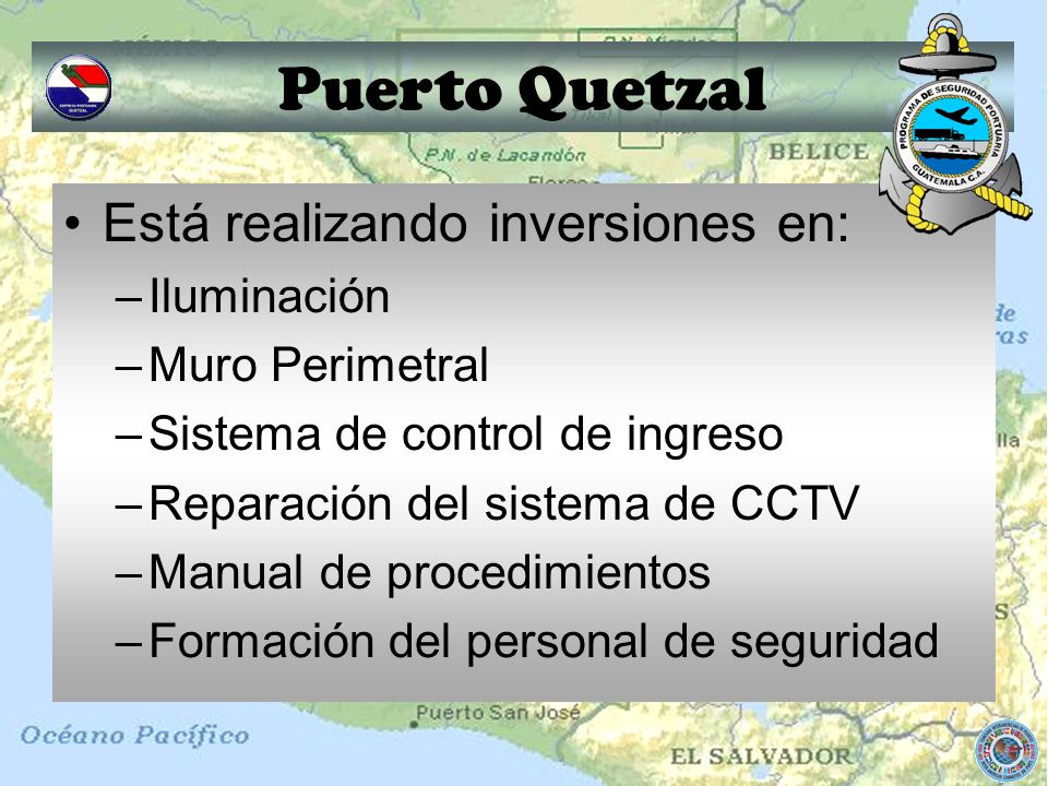 Puerto Quetzal Está realizando inversiones en: Iluminación