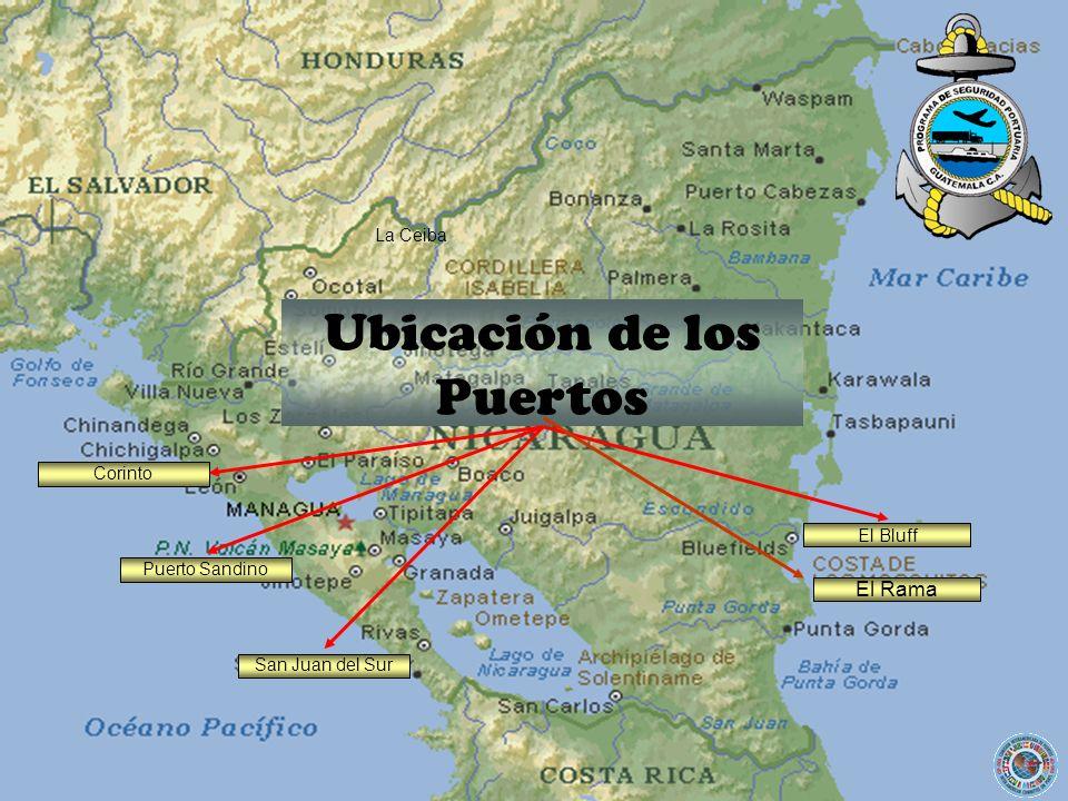 Ubicación de los Puertos