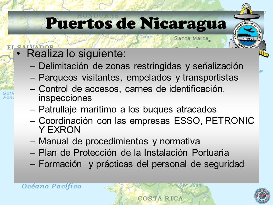 Puertos de Nicaragua Realiza lo siguiente: