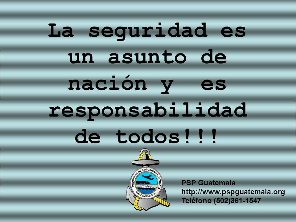 La seguridad es un asunto de nación y es responsabilidad de todos!!!