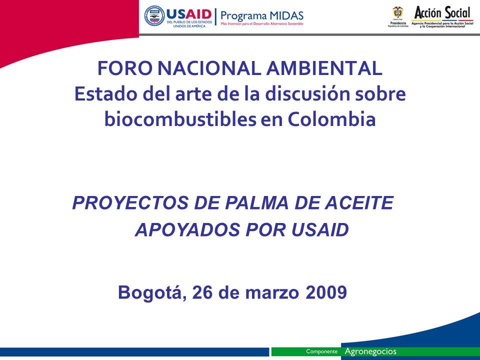 PROYECTOS DE PALMA DE ACEITE APOYADOS POR USAID