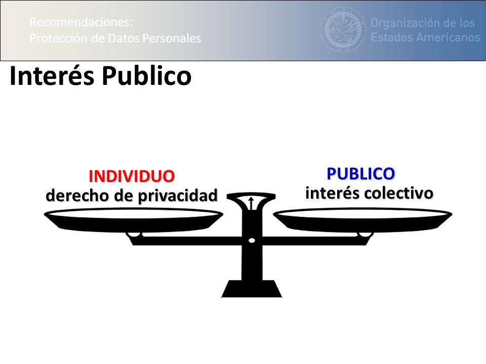 Interés Publico INDIVIDUO PUBLICO derecho de privacidad