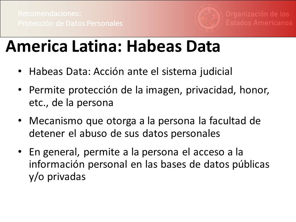 America Latina: Habeas Data