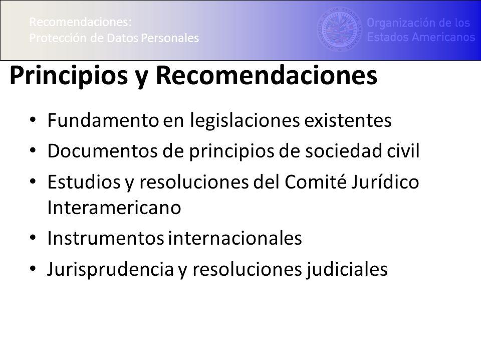 Principios y Recomendaciones