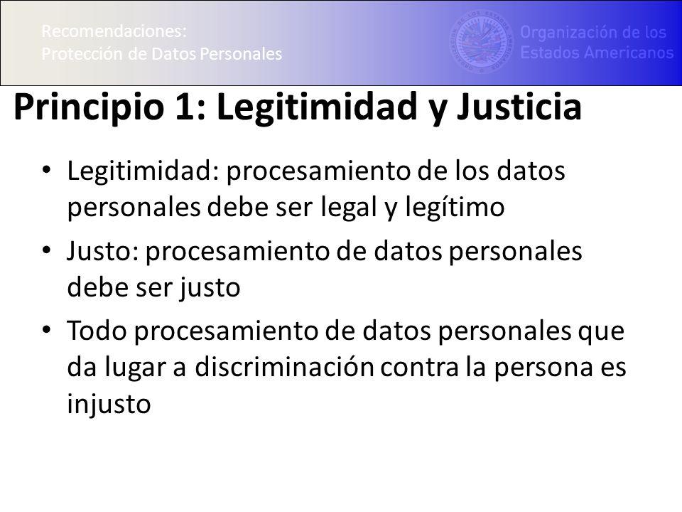 Principio 1: Legitimidad y Justicia