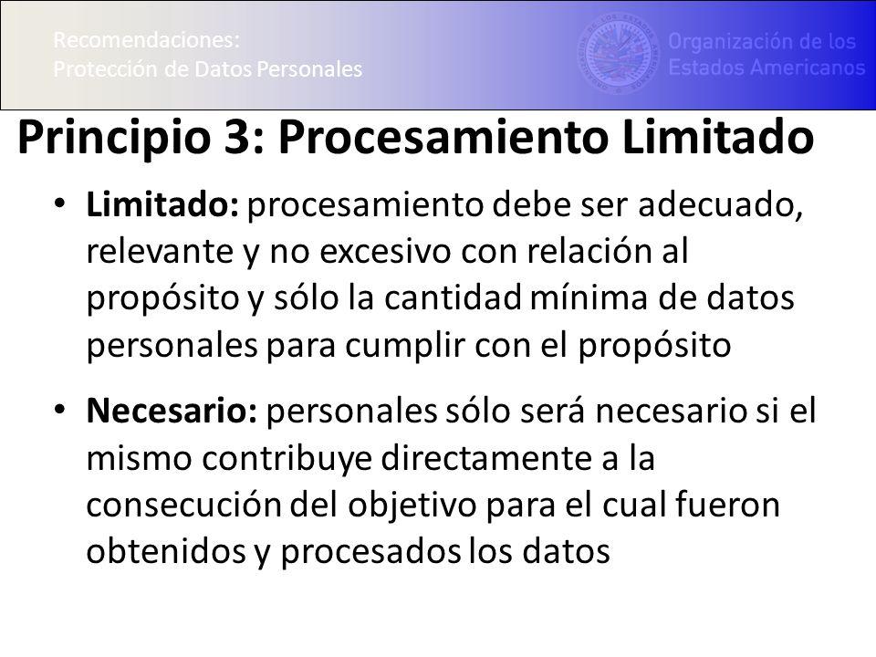 Principio 3: Procesamiento Limitado