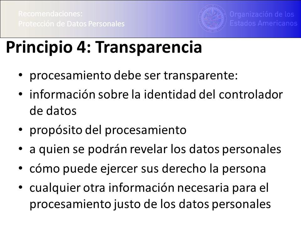 Principio 4: Transparencia