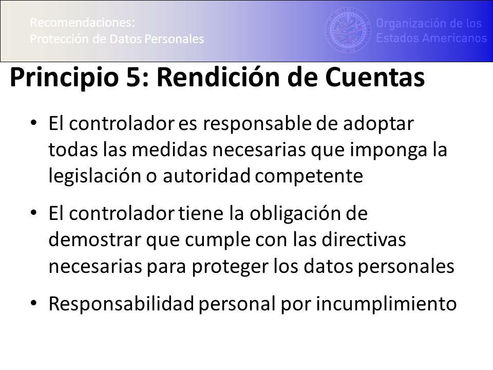 Principio 5: Rendición de Cuentas