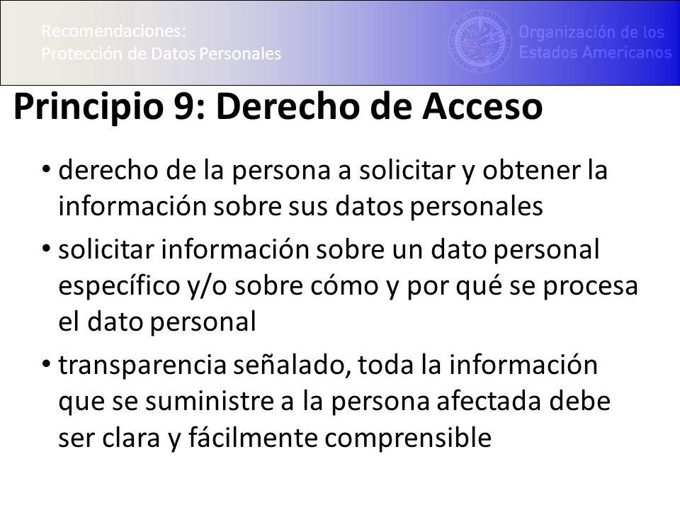 Principio 9: Derecho de Acceso