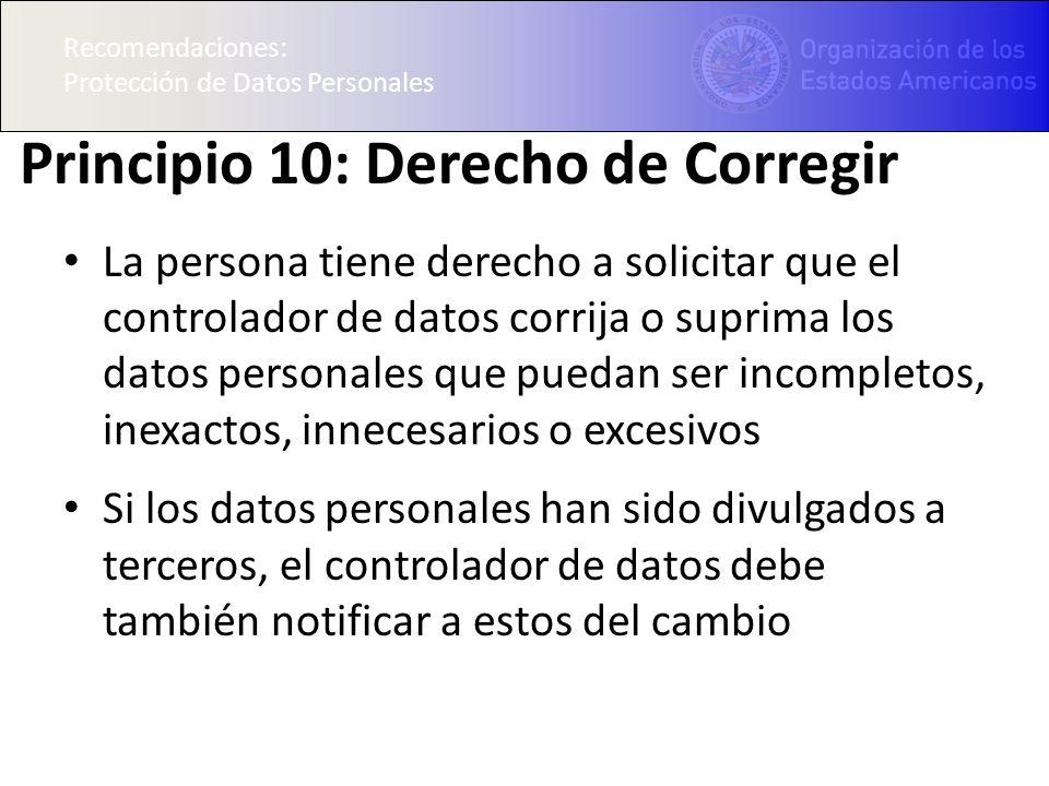 Principio 10: Derecho de Corregir