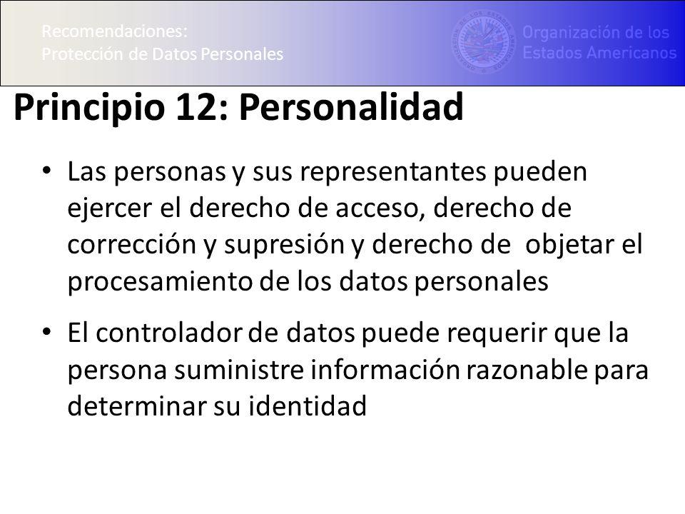 Principio 12: Personalidad