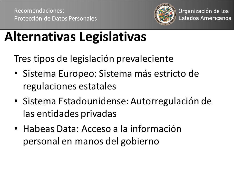 Alternativas Legislativas