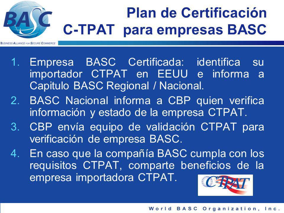 Plan de Certificación C-TPAT para empresas BASC