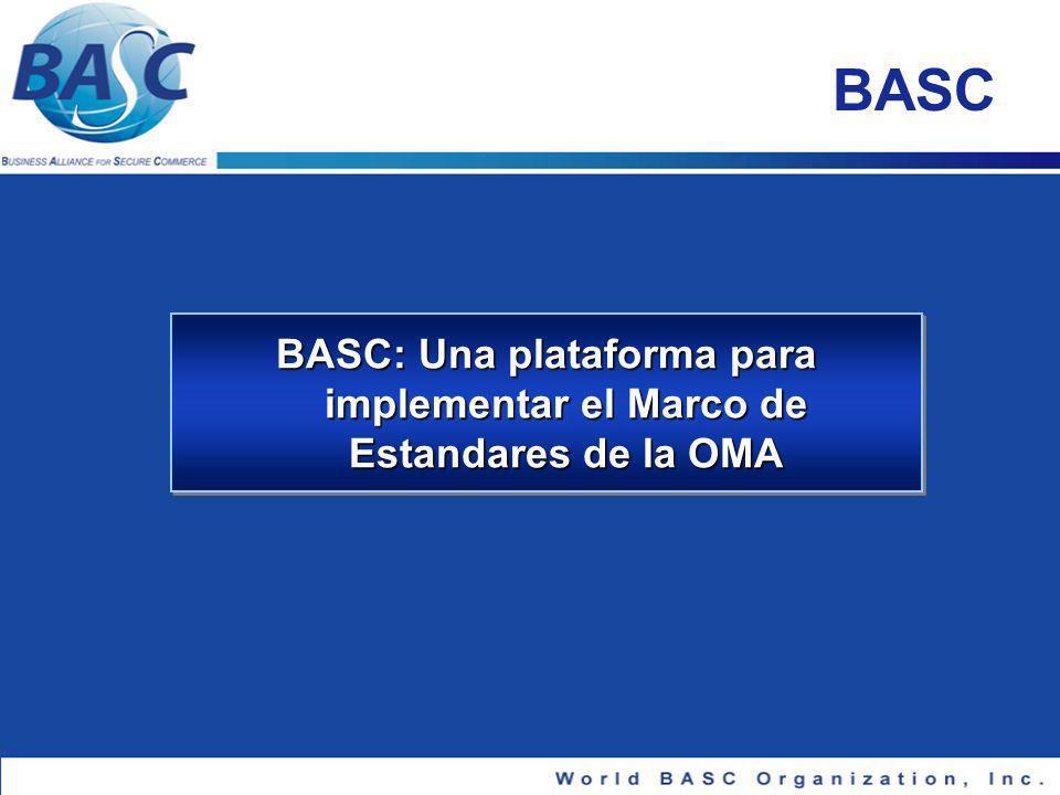 BASC: Una plataforma para implementar el Marco de Estandares de la OMA