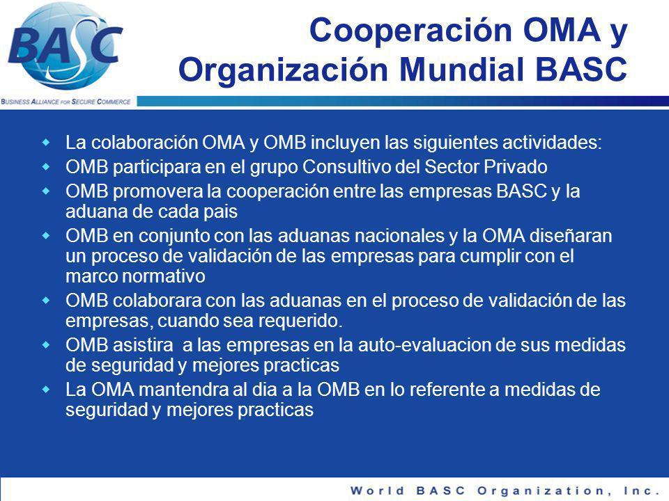 Cooperación OMA y Organización Mundial BASC