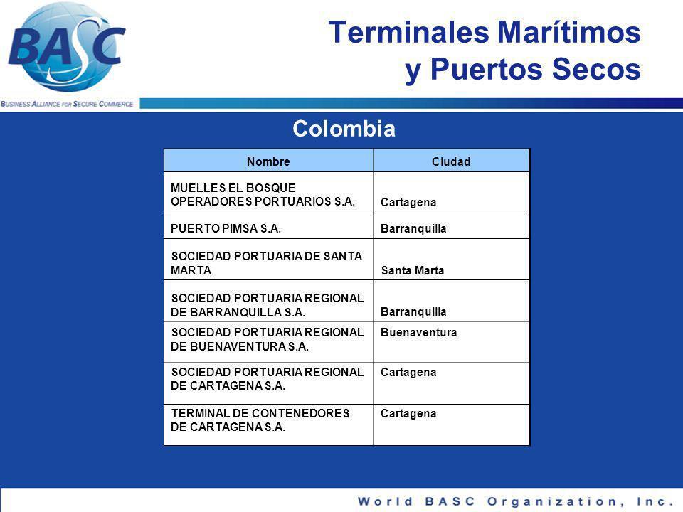 Terminales Marítimos y Puertos Secos