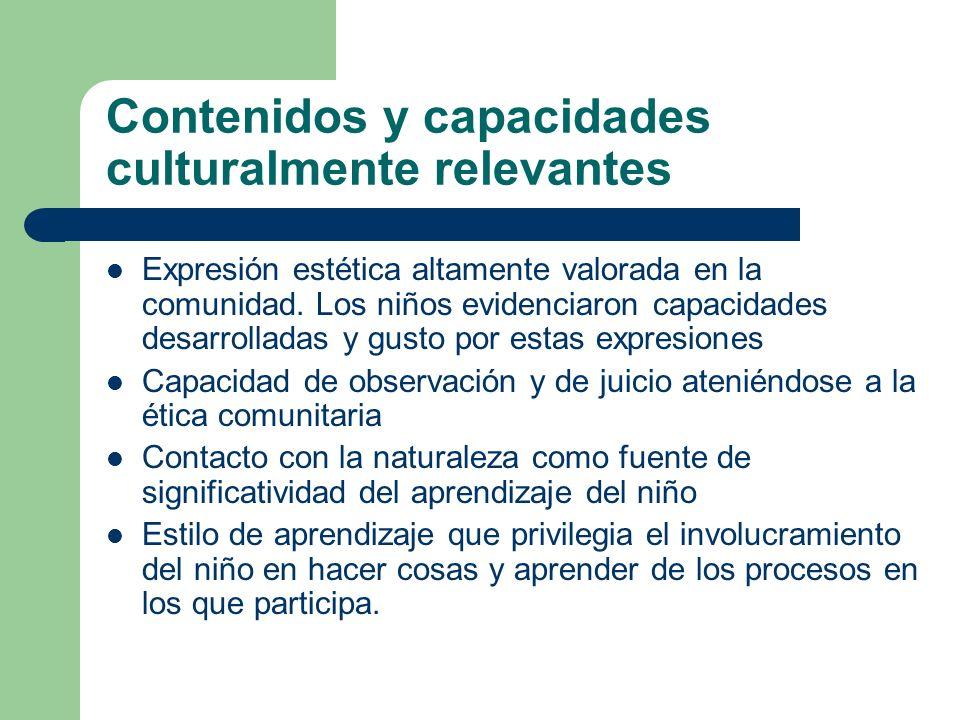 Contenidos y capacidades culturalmente relevantes