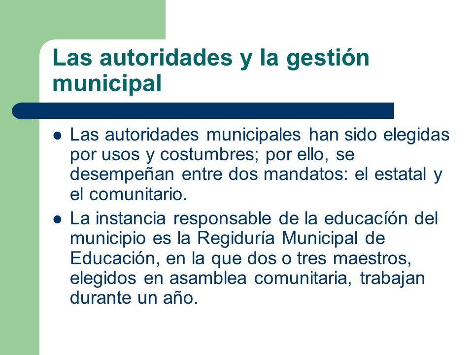 Las autoridades y la gestión municipal