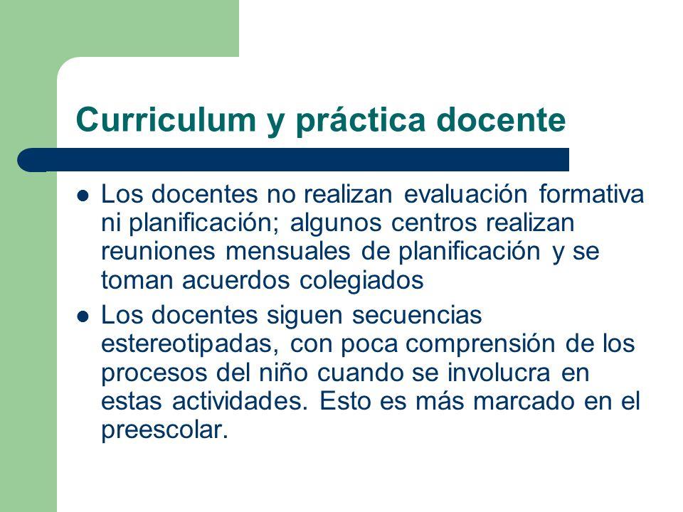 Curriculum y práctica docente