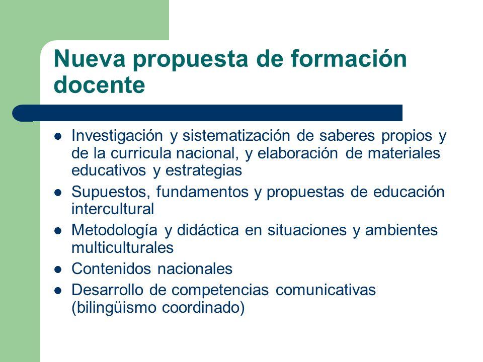 Nueva propuesta de formación docente