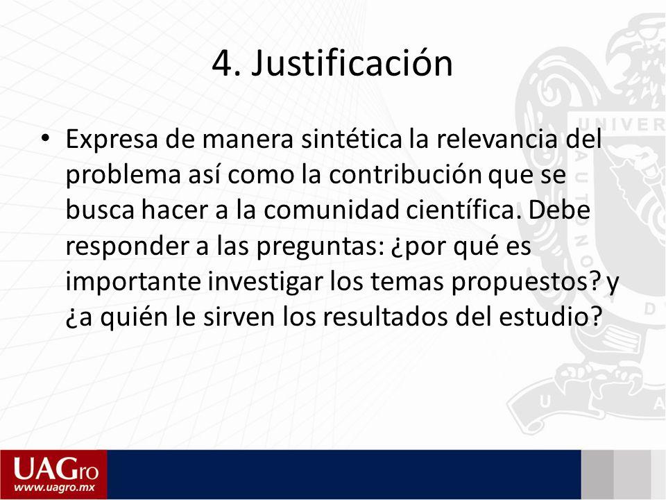 4. Justificación