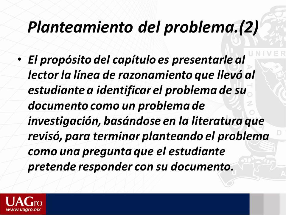 Planteamiento del problema.(2)