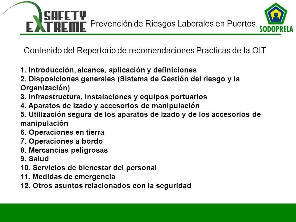 Contenido del Repertorio de recomendaciones Practicas de la OIT