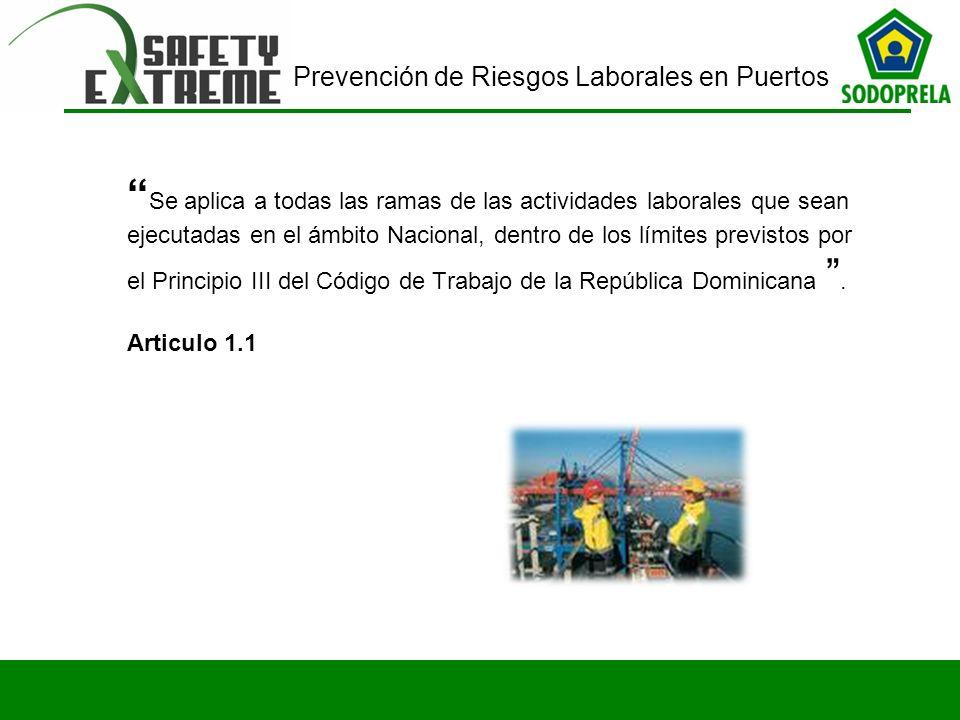 Se aplica a todas las ramas de las actividades laborales que sean ejecutadas en el ámbito Nacional, dentro de los límites previstos por el Principio III del Código de Trabajo de la República Dominicana .