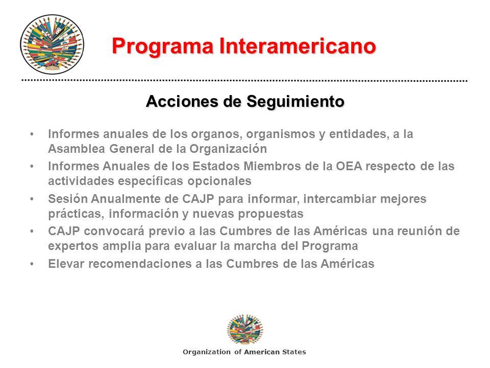 Programa Interamericano Acciones de Seguimiento