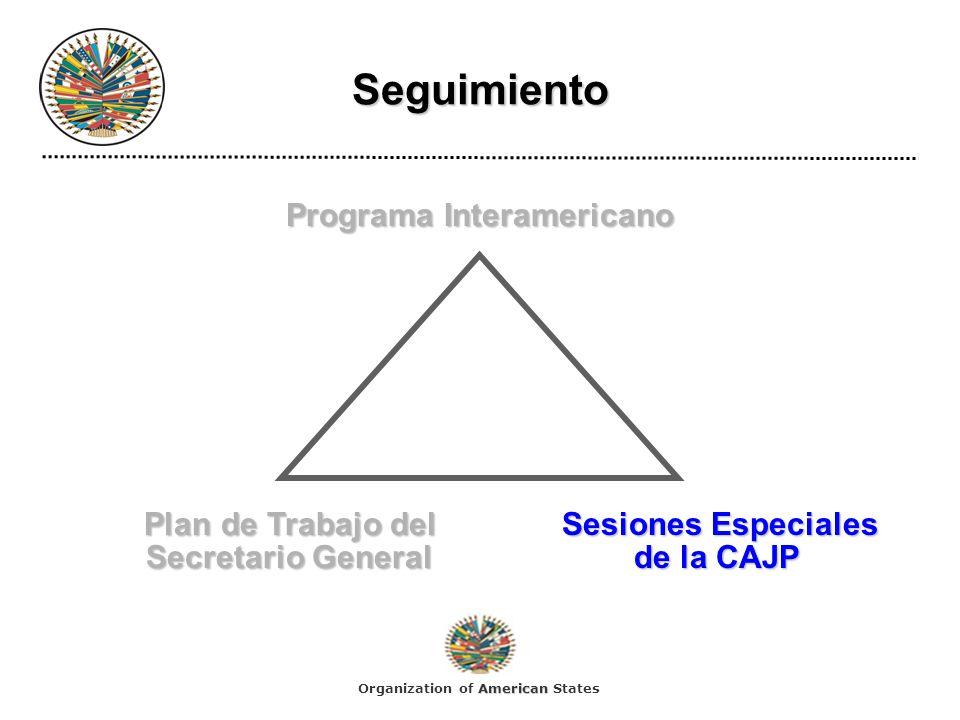 Programa Interamericano Plan de Trabajo del Sesiones Especiales