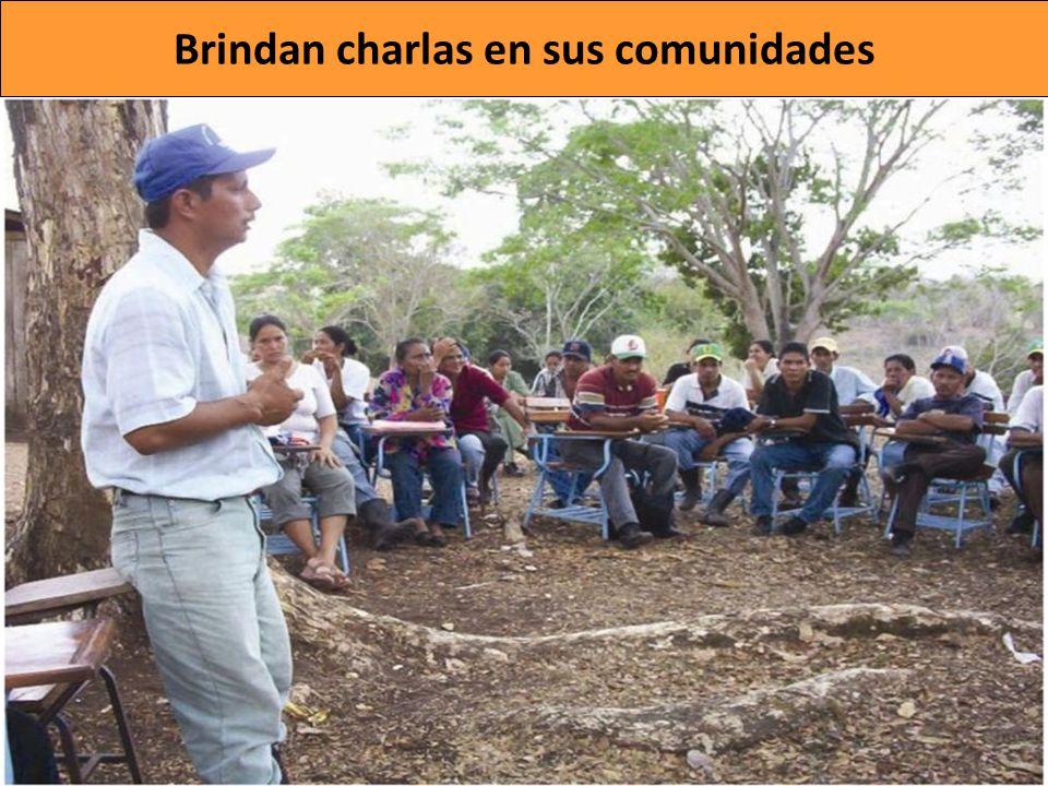 Brindan charlas en sus comunidades