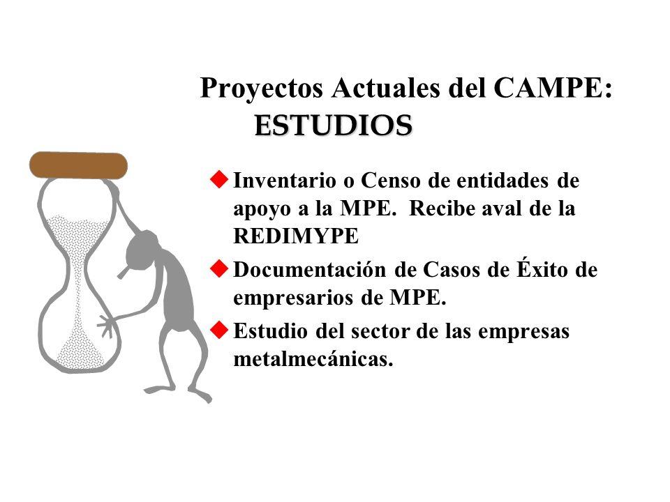 Proyectos Actuales del CAMPE: