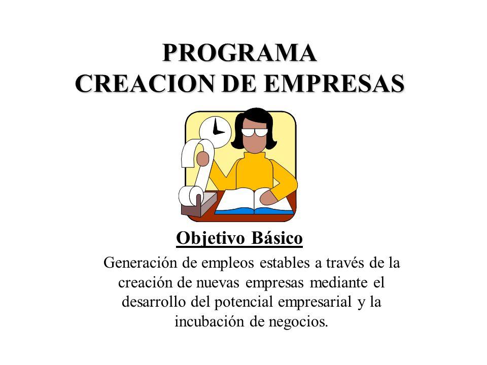 PROGRAMA CREACION DE EMPRESAS
