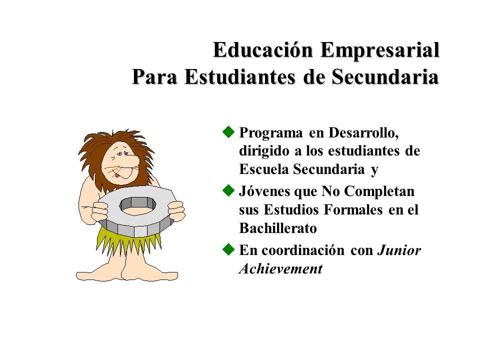 Educación Empresarial Para Estudiantes de Secundaria