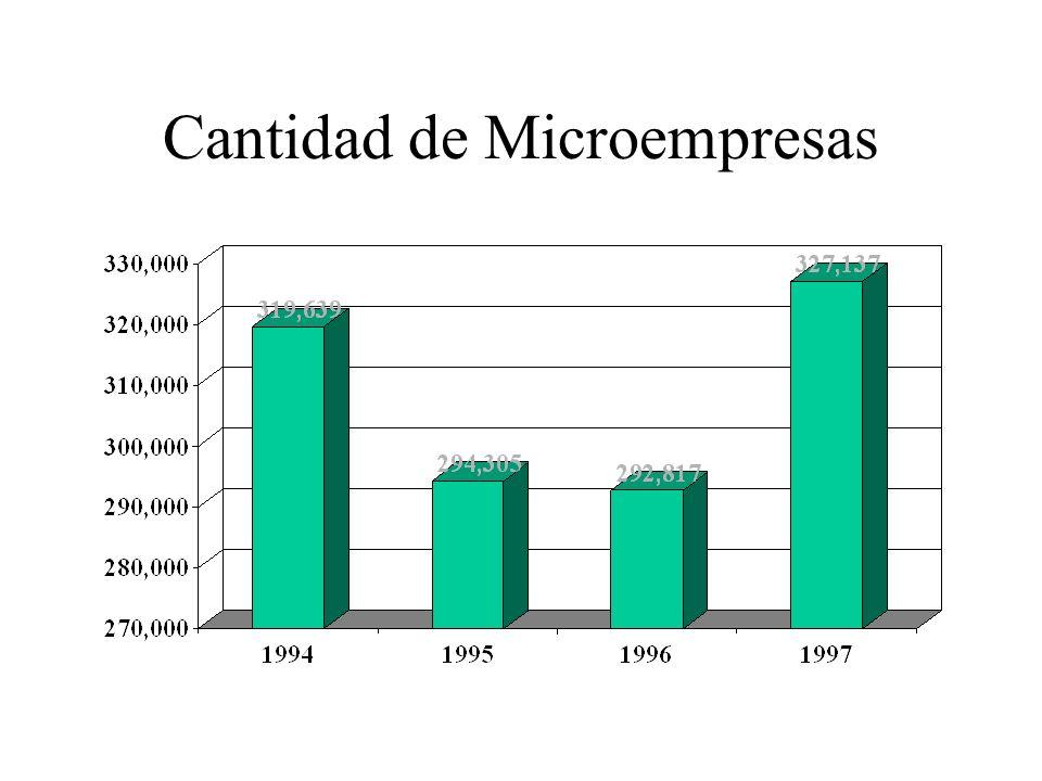 Cantidad de Microempresas