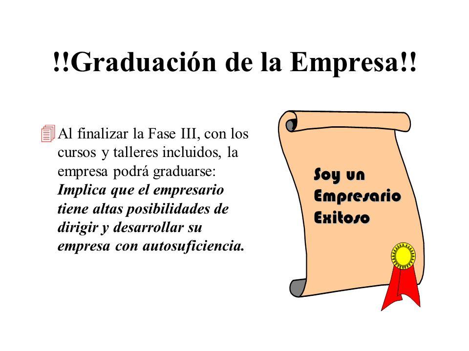 !!Graduación de la Empresa!!