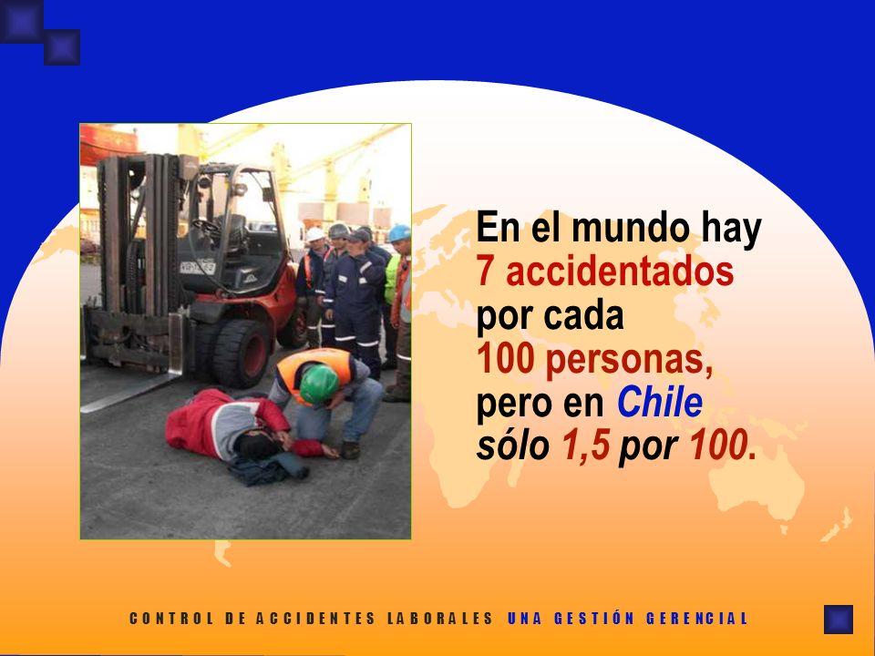 En el mundo hay 7 accidentados por cada 100 personas, pero en Chile sólo 1,5 por 100.