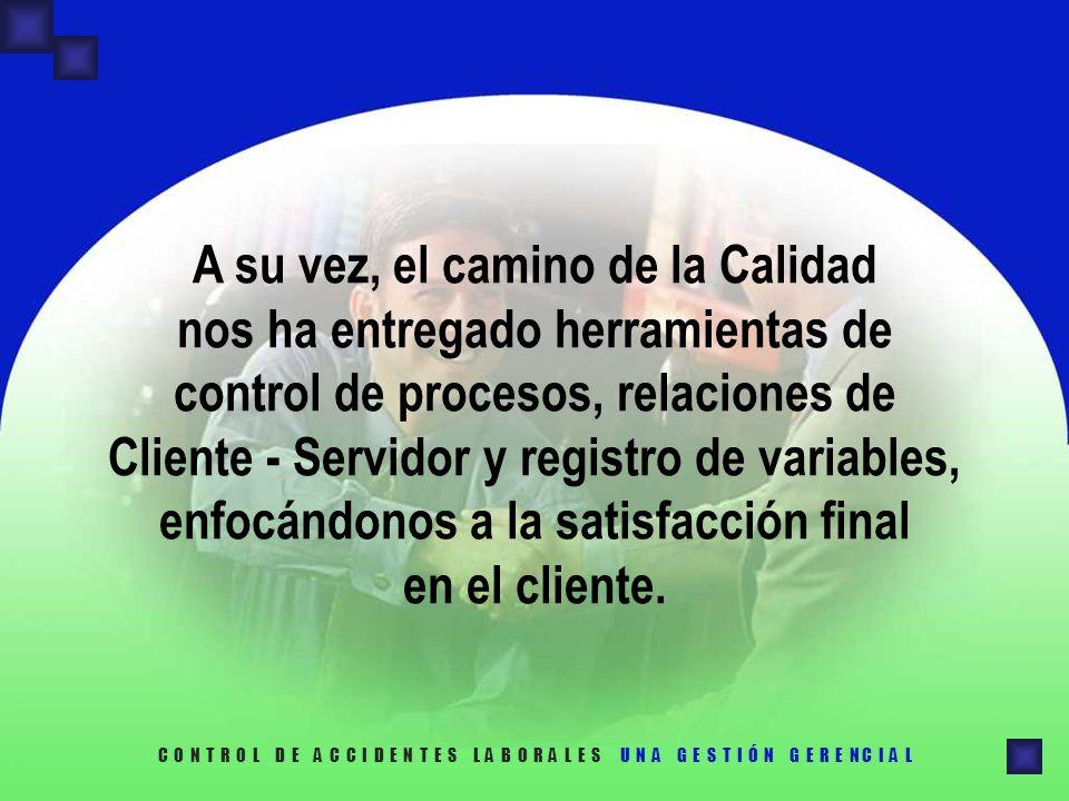 A su vez, el camino de la Calidad nos ha entregado herramientas de control de procesos, relaciones de Cliente - Servidor y registro de variables, enfocándonos a la satisfacción final en el cliente.