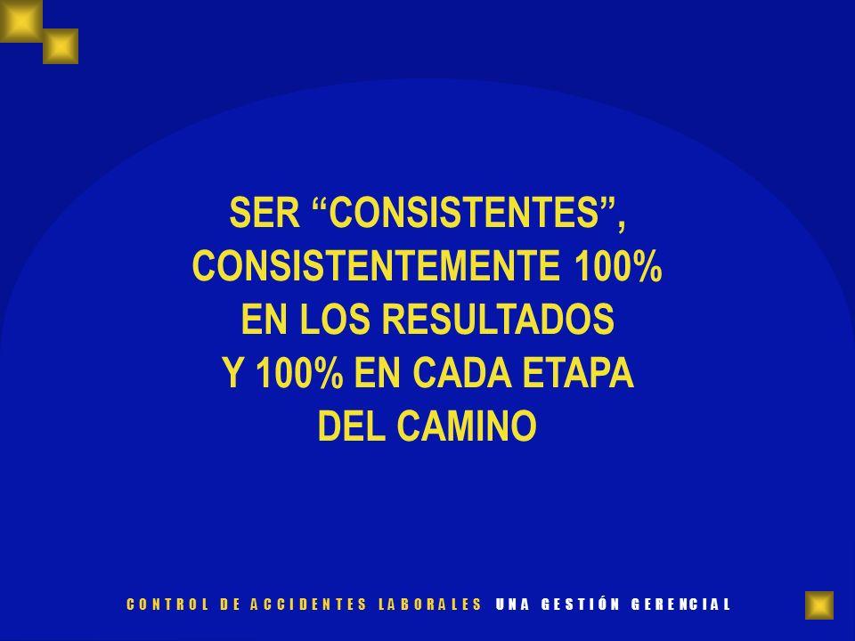 SER CONSISTENTES , CONSISTENTEMENTE 100% EN LOS RESULTADOS Y 100% EN CADA ETAPA DEL CAMINO