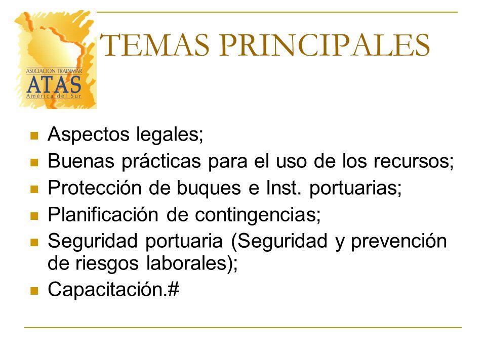 TEMAS PRINCIPALES Aspectos legales;