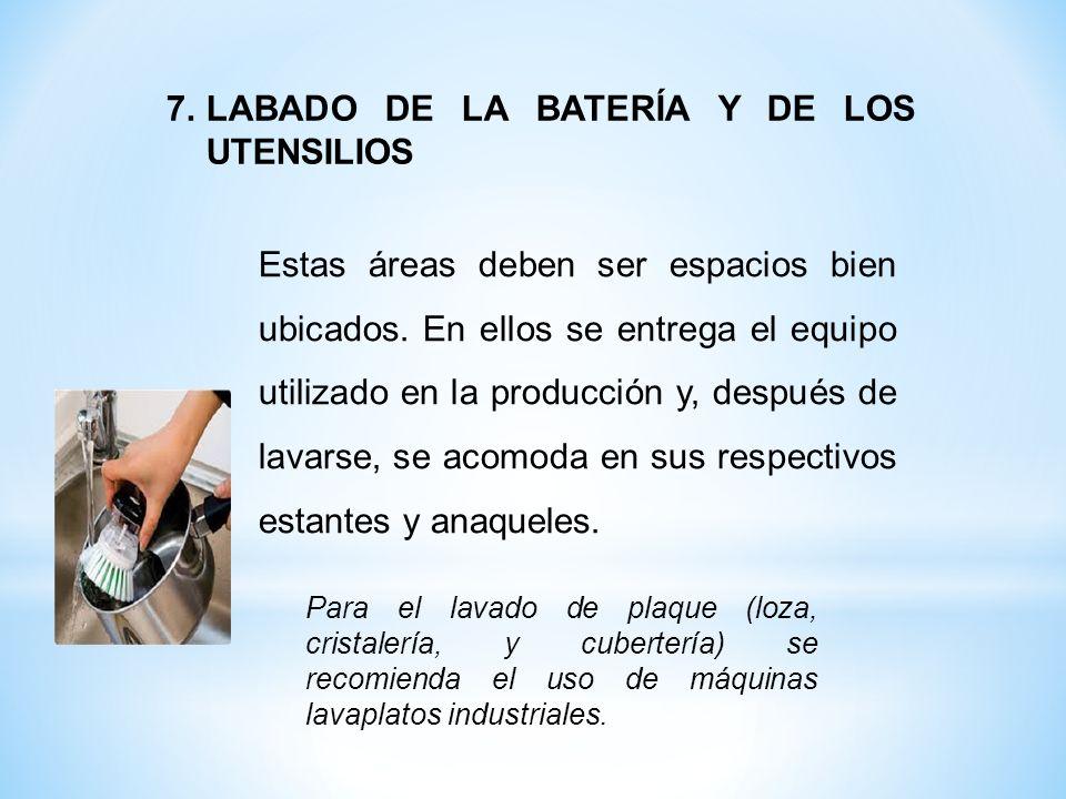 LABADO DE LA BATERÍA Y DE LOS UTENSILIOS