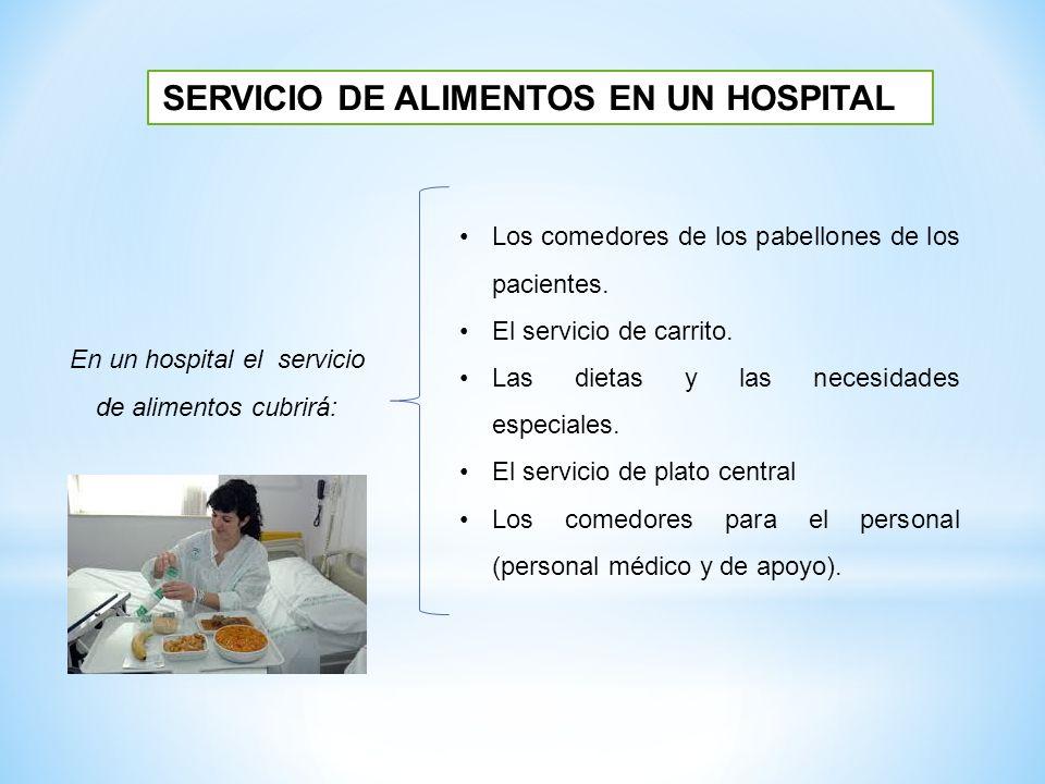 SERVICIO DE ALIMENTOS EN UN HOSPITAL