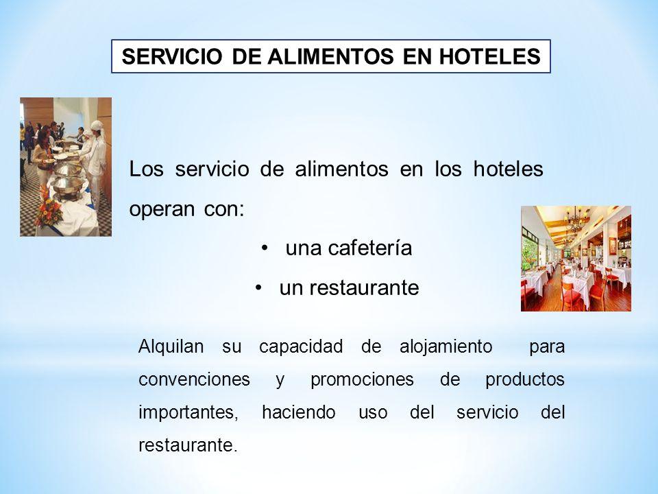 SERVICIO DE ALIMENTOS EN HOTELES