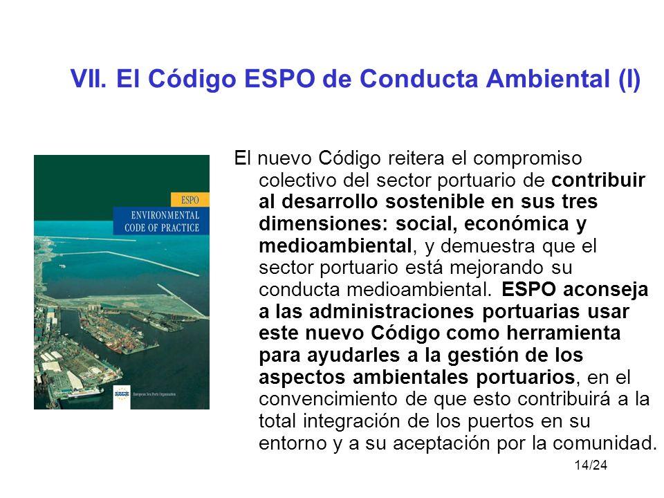 VII. El Código ESPO de Conducta Ambiental (I)