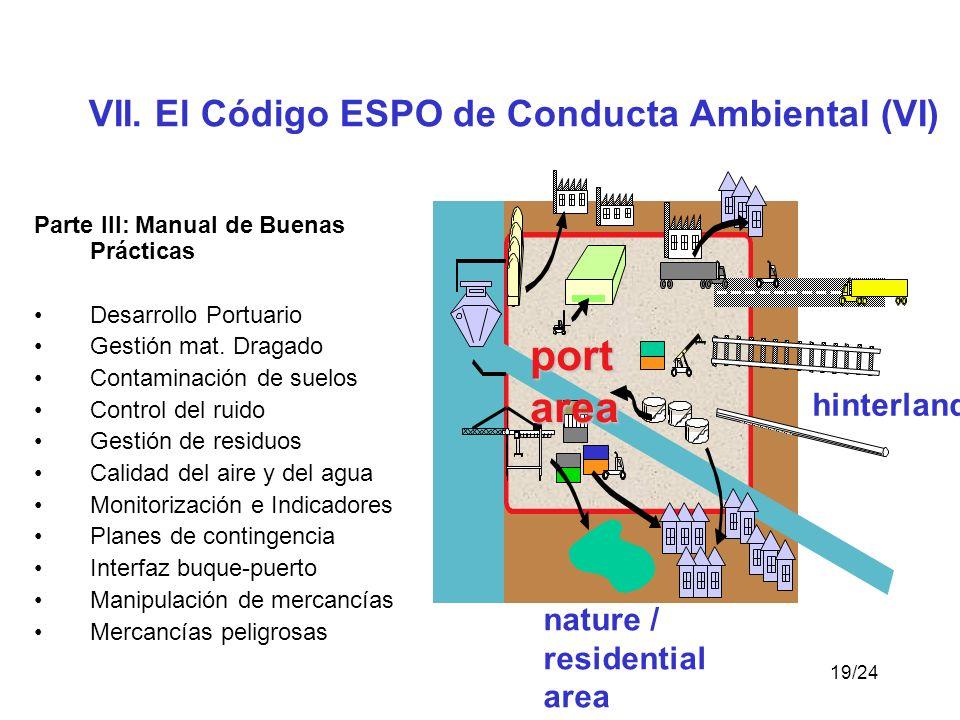 VII. El Código ESPO de Conducta Ambiental (VI)