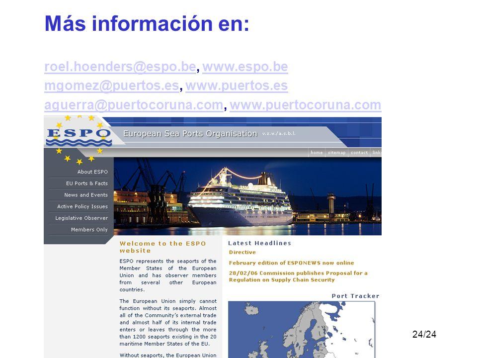 Más información en: roel.hoenders@espo.be, www.espo.be