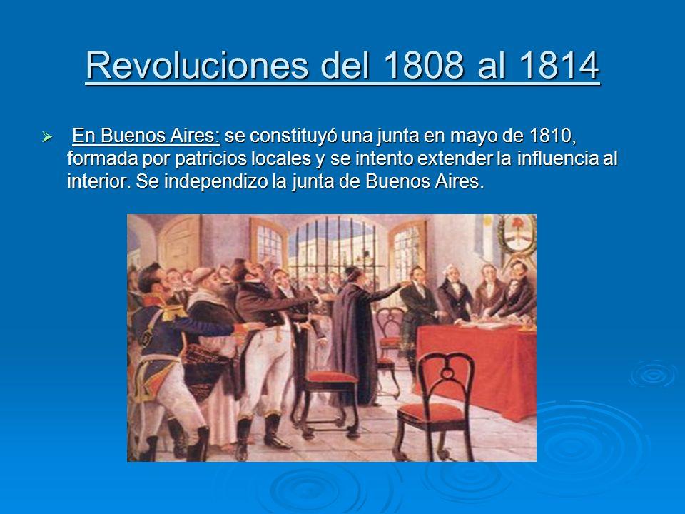 Revoluciones del 1808 al 1814