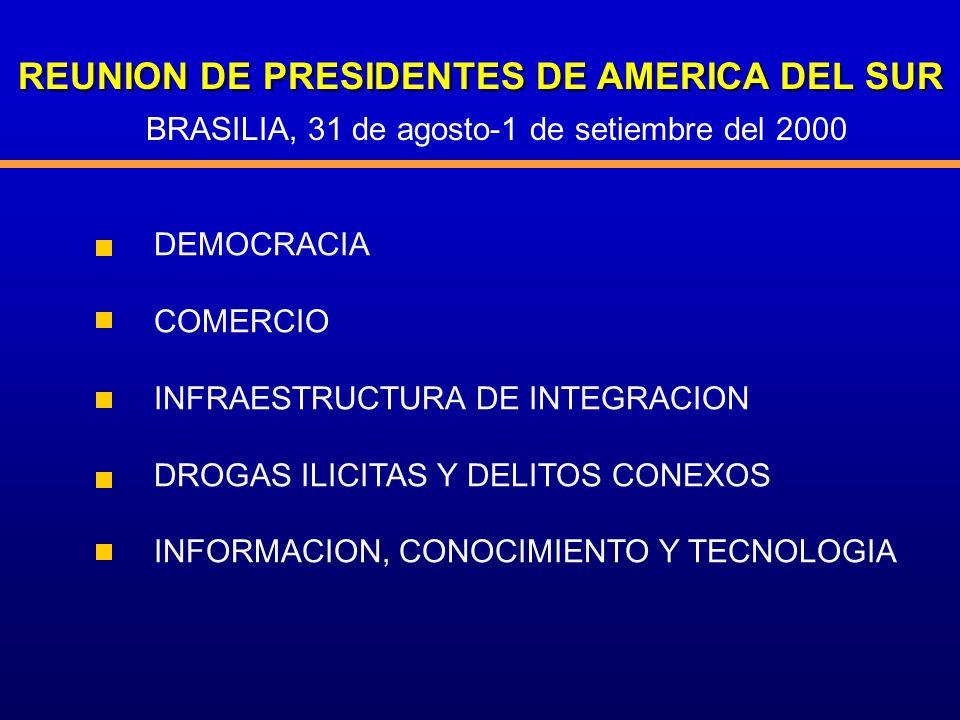 REUNION DE PRESIDENTES DE AMERICA DEL SUR