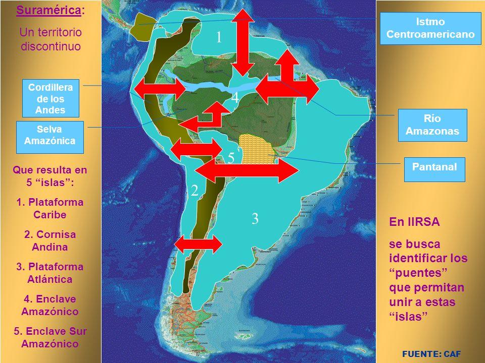 Cordillera de los Andes Que resulta en 5 islas :
